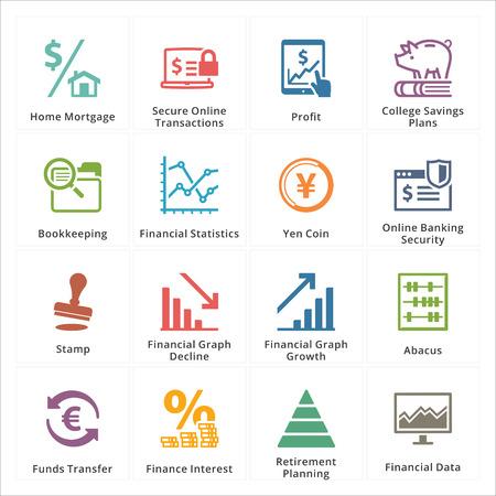 crecimiento personal: Personal Negocios Finanzas Iconos - conjunto 3