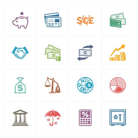 Finance Icons - Gekleurde Series
