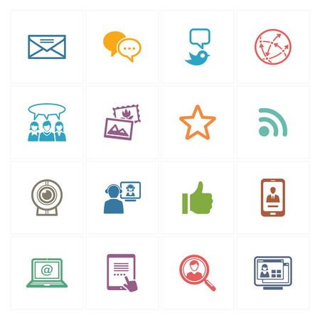 Social Media Icons Set 1 - Colored Series Vector