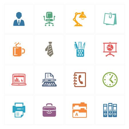 Iconos de la oficina - Series de Color