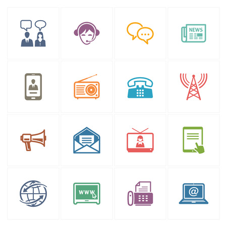 wireless communication: Communication Icons Set 2 - Colored Series