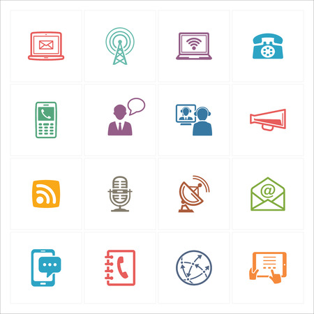 communication icons: Communication Icons Set 1 - Colored Series