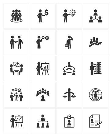 ビジネス管理のアイコン  イラスト・ベクター素材