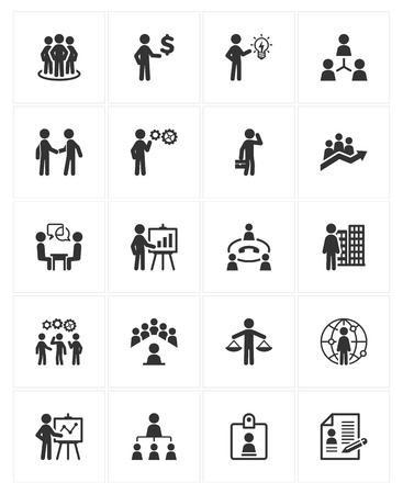 Business Management Icons 免版税图像 - 31808492