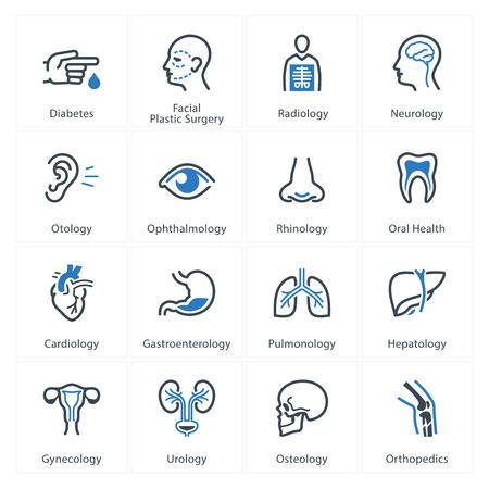 consulta médica: Iconos de Medicina y Salud Set 1 - Especialidades