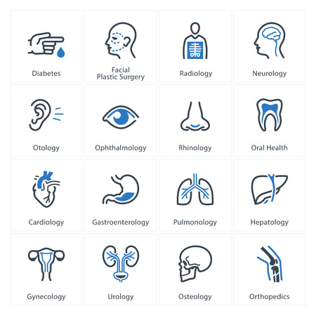 illness: Medical & Health Care Icons Set 1 - Specialties