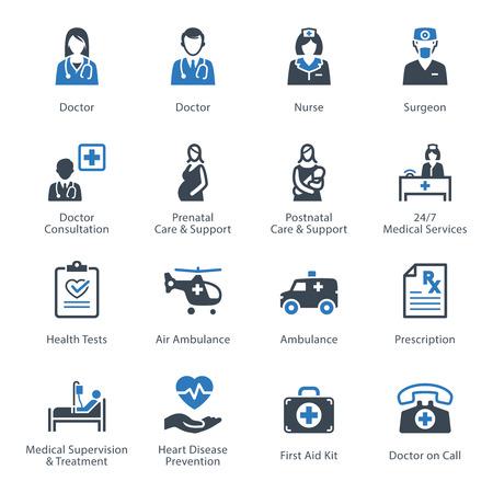Medical & Health Care Icons Set 1 - Diensten Vector Illustratie