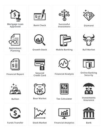 個人 & ビジネス金融のアイコン - セット 1  イラスト・ベクター素材