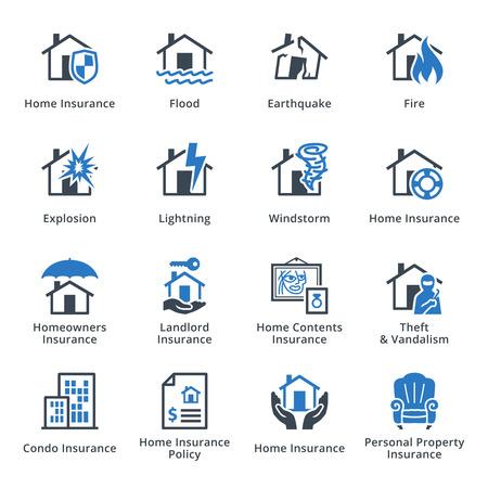Property Insurance - Blue Series  イラスト・ベクター素材