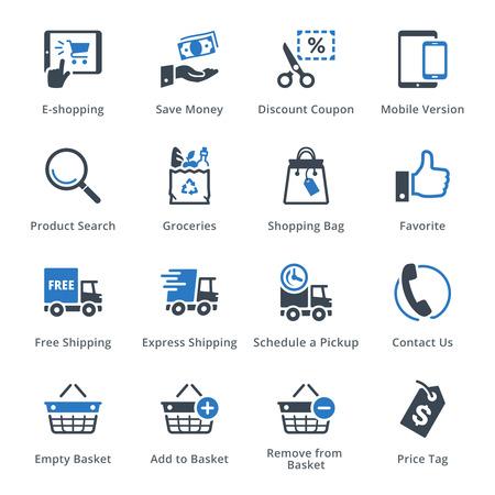 Conjunto de ícones de comércio eletrônico 4 - série azul Foto de archivo - 54784399
