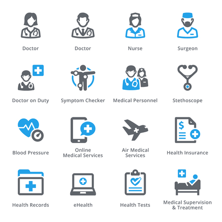 Medical & Health Care Icons Set 2 - Diensten | sympa Series