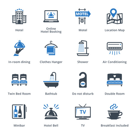 minibar: Tourism & Travel Icons Set 1 - Blue Series