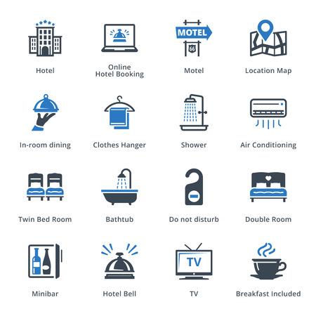 Turismo y Viajes de conjunto de iconos 1 - Serie Azul