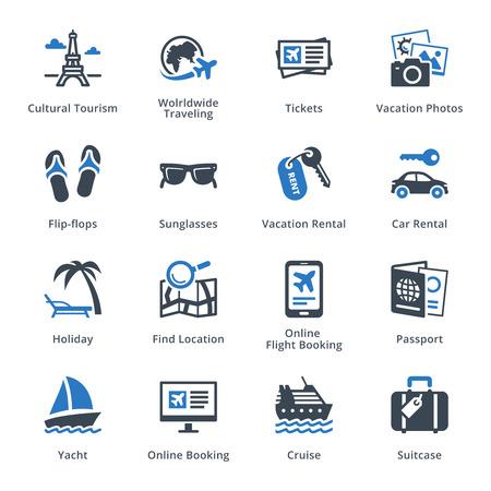 Tourisme & Voyage Icons Set 5 - Blue Series