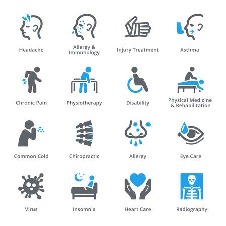 Gezondheid Lichamelijke condities & ziektes - Sympa Series Vector Illustratie