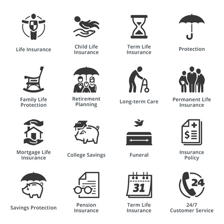 insurance policy: Life Insurance Icons