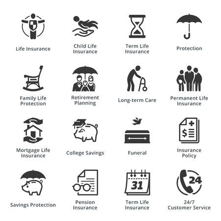 pflegeversicherung: Life Insurance Icons