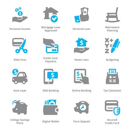 個人・ ビジネス金融アイコン セット Sympa シリーズ 2  イラスト・ベクター素材