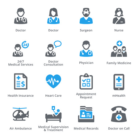 Medical & Health Care Icons Set 1 - Diensten | sympa Series Stockfoto - 59220447