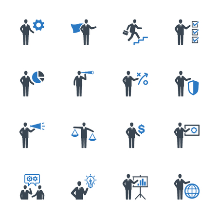 Business Management Icons Set 2 - Blue Series 矢量图像