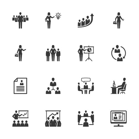 success business: Business Management Icons - Set 1