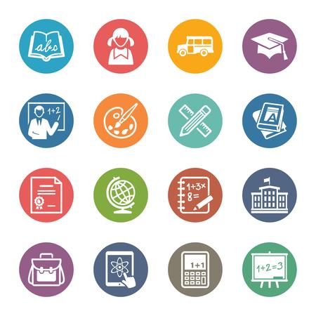 Education Icons Set 1 - Dot Series Ilustrace