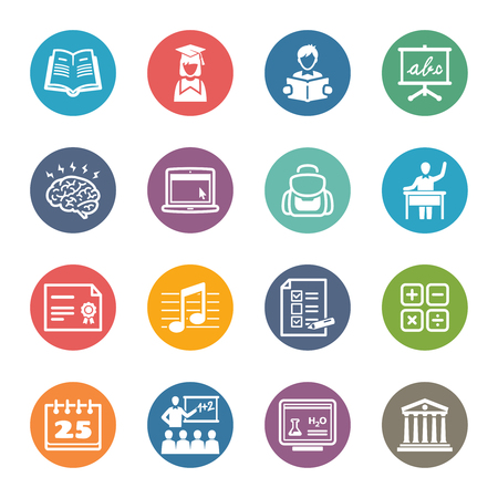 Education Icons Set 2 - Dot Series