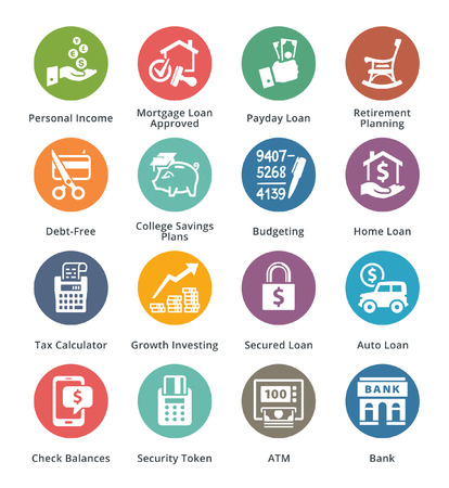finance icons: Personal & Business Finance Icons Set 2 - Dot Series