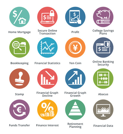 business finance: Personal & Business Finance Icons Set 3 - Dot Series