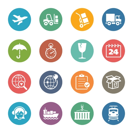 overnight delivery: Logistics Icons - Dot Series