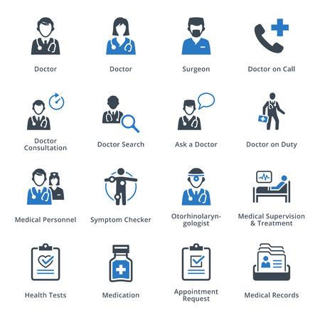 의료 서비스 아이콘 세트 3 - 블루 시리즈