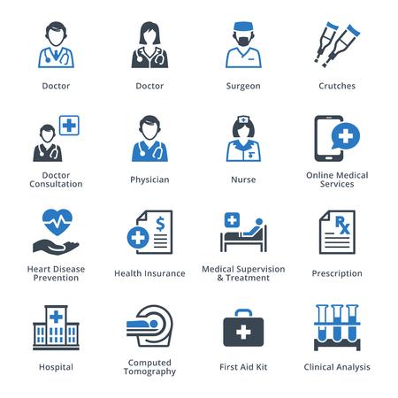 doctor visit: Medical Services Icons Set 4 - Blue Series
