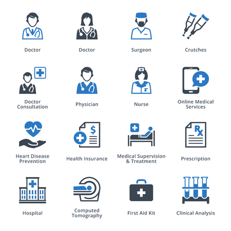 Medical Services Icons Set 4 - Blue Series