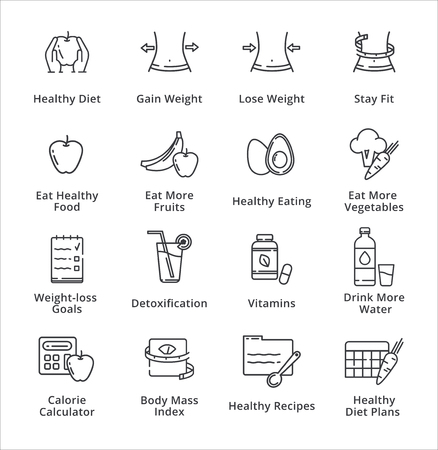 Healthy Lifestyle - Dieting Icons - Outline Series
