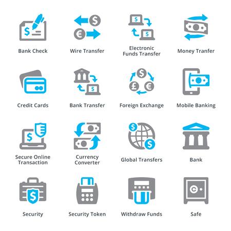 Zestaw ikon osobistych i biznesowych finansów 3 - Sympa Series