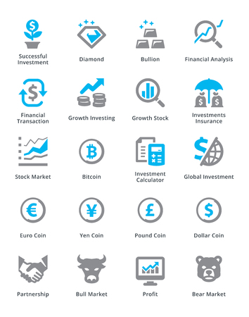 Personal & Business Finance Icons Set 4 - Sympa Series Stock Illustratie