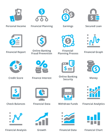 Personal & Business Finance Icons Set 5 - Sympa Series Stock Illustratie