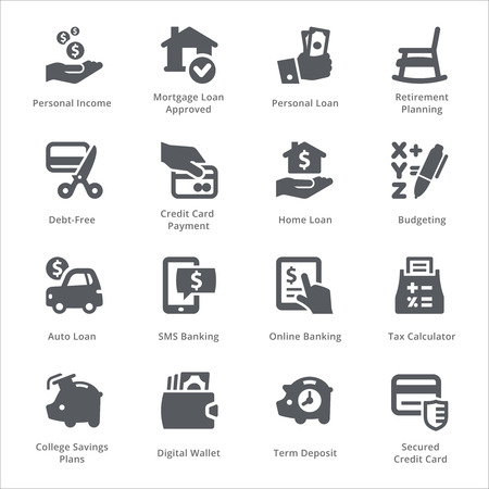 Personal & Business Finance Icons Set 2 - Sympa Series Vectores
