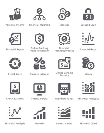 Personal & Business Finance Icons Set 5 - Sympa Series 向量圖像