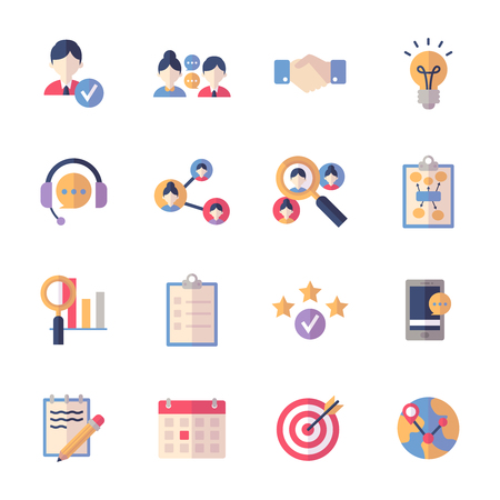 Social Media Icons Set 2 - Flat Series