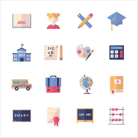 Education Icons Set 1- Flat Series