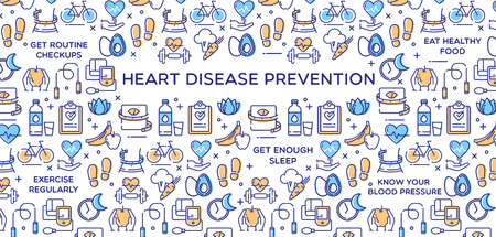 Heart Disease Prevention Vector Illustration 矢量图像