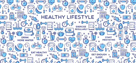 rate: Healthy Lifestyle Vector Illustration, Dieting, Fitness & Nutrition
