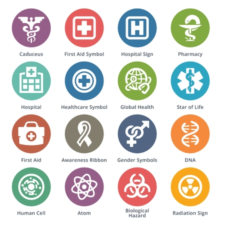 Medical and health care icons. 矢量图像