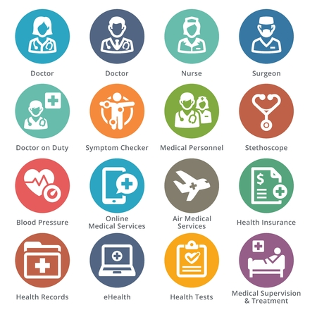Medical services icons. Illustration