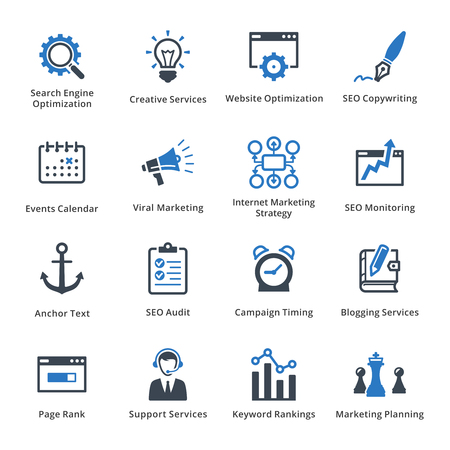 Internet marketing icons set.