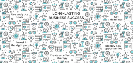 Long lasting business success wallpaper background vector illustration