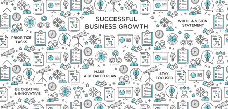 Successful business growth wallpaper background icon vector illustration
