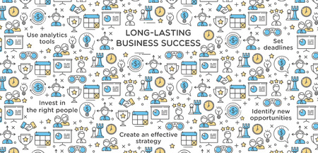 Long-Lasting Business Success Vector Illustration 矢量图像