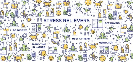 Stress Relievers - Conceptual Image 矢量图像
